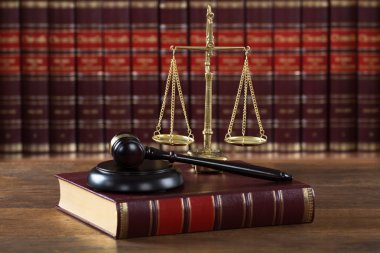 Legal Book With Justice Scale