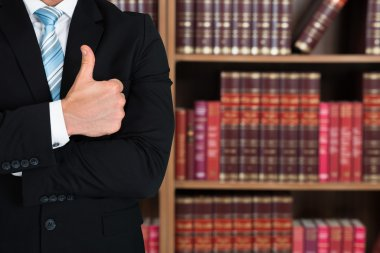 Lawyer Gesturing Thumb Up