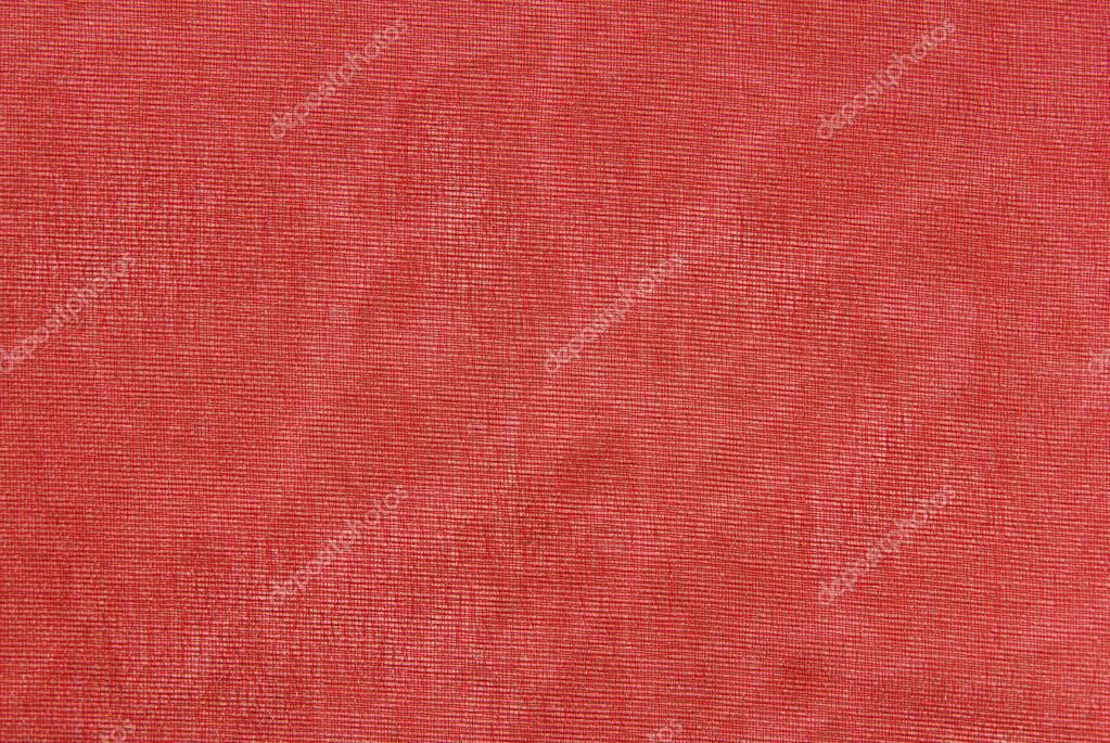 Textura De La Tela De Organza Roja