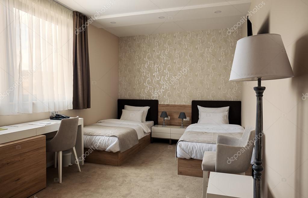 Hotel kamer interieur — Stockfoto © krsmanovic #110413798