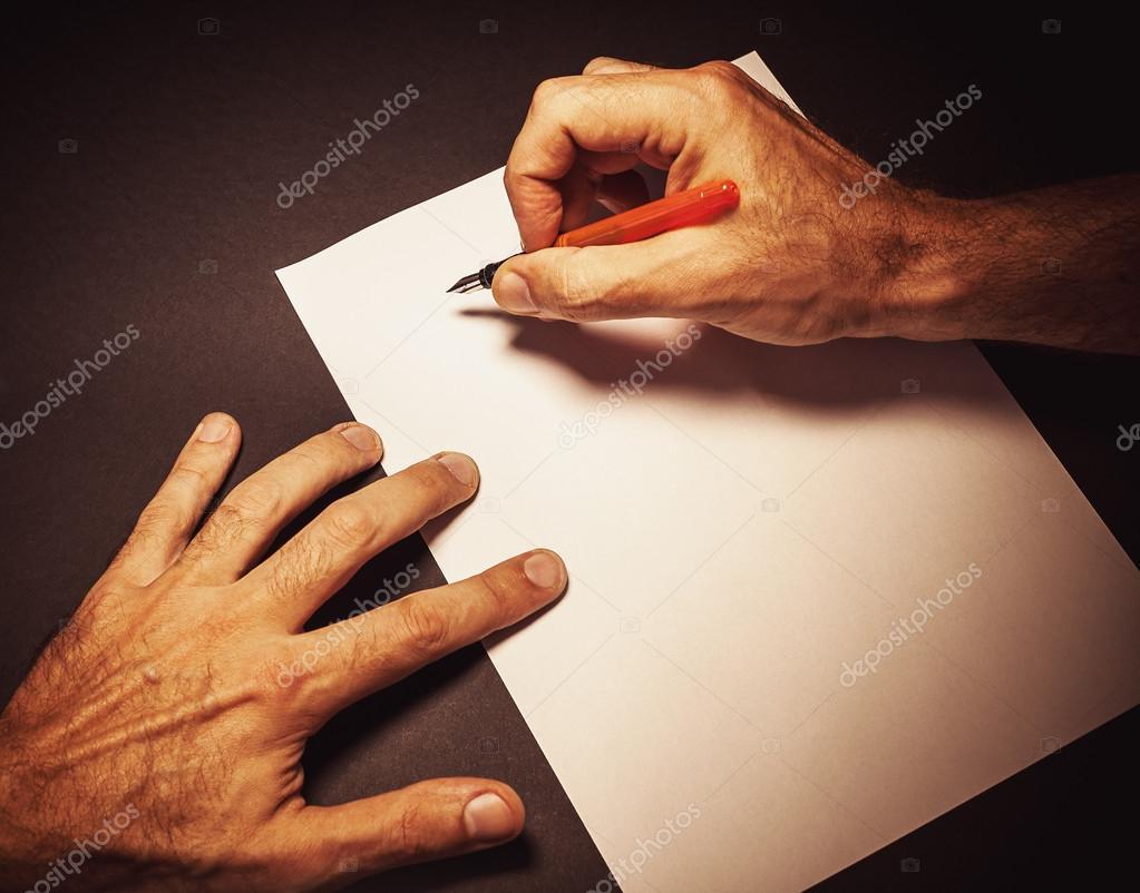 Schreiben Sie Einen Brief Von Einem Mann Stockfoto Krsmanovic