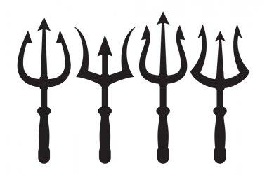 set of trident icons