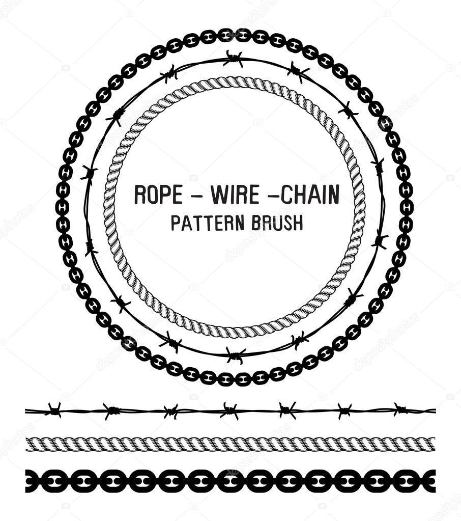Seil, Draht und Kette Muster — Stockvektor © mhatzapa #124286998