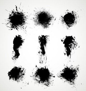 Grunge black splashes
