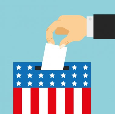 election day cartoon symbol