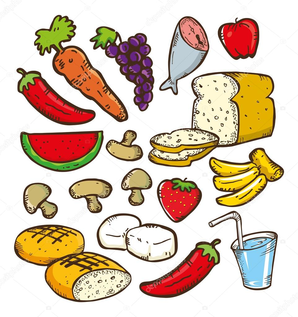 Healthy Foods Clipart Healthy Food Doodle �...