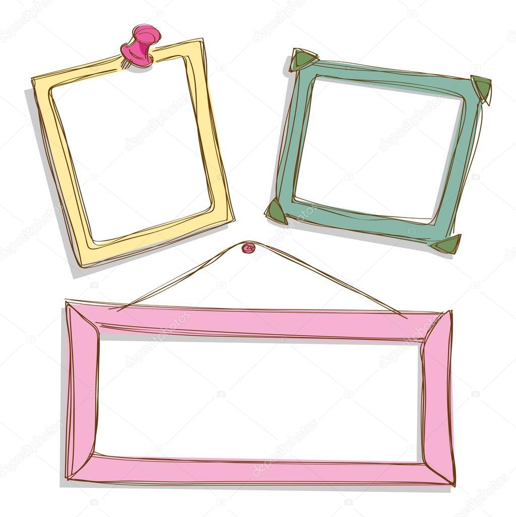 Colorful cute frames — Stock Vector © mhatzapa #59807313