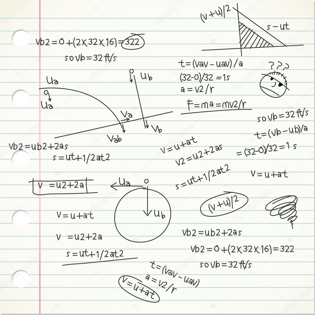 Muito Página de fórmulas de física — Archivo Imágenes Vectoriales  QB86