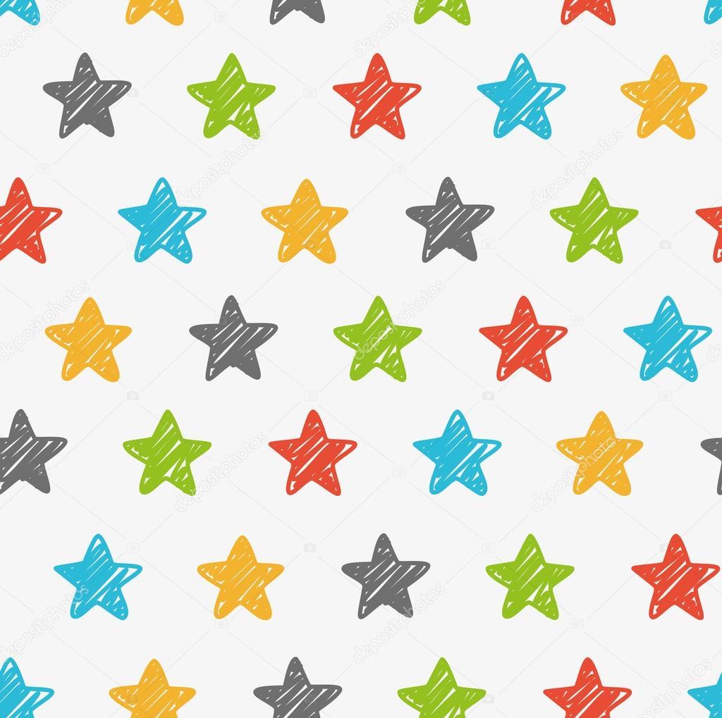 Sketchy stars background