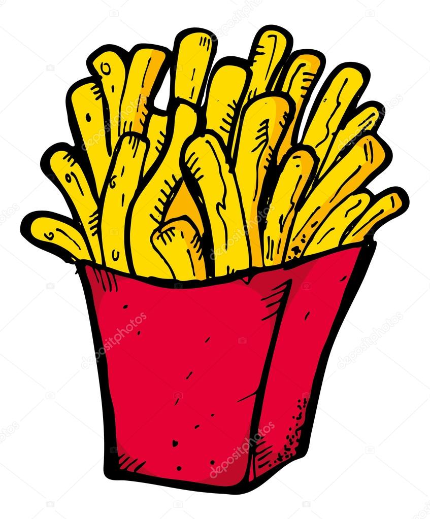 french fries in box stock vector  u00a9 mhatzapa 59809309 french fry clip art free Template French Fry