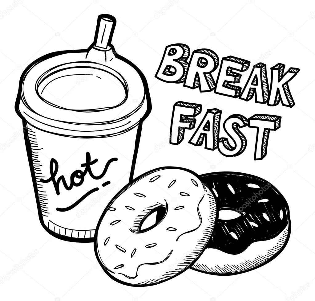 Breakfast food in doodle style stock vector mhatzapa - Style de dessin ...