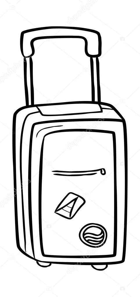 Travel Bag Doodle Stock Vector