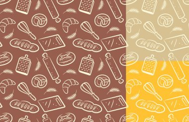 Bread, bakery background