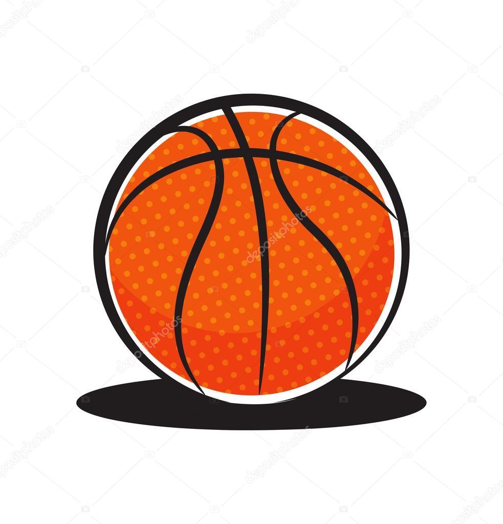 bola de basquete dos desenhos animados vetor de stock mhatzapa