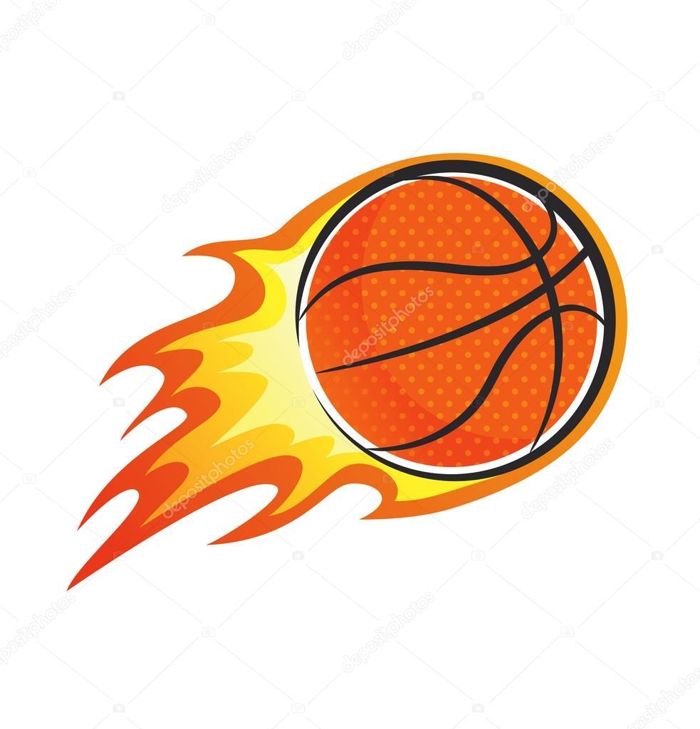 bola de basquete em chamas vetor de stock mhatzapa 81208748