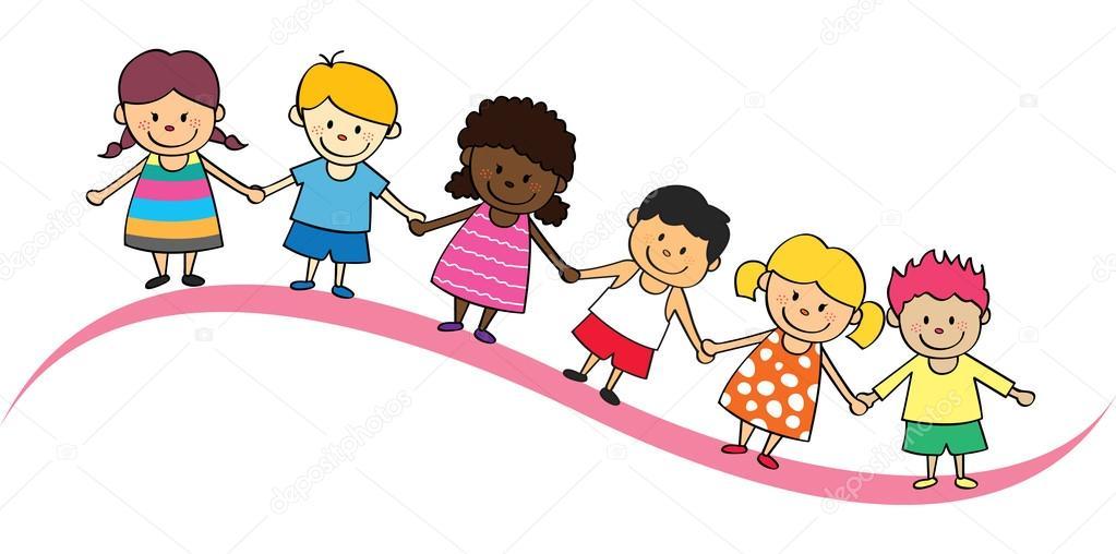 Dibujos Animados De Niños Felices