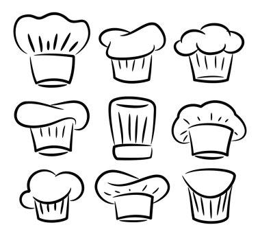 set of chef, cook hat