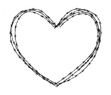 abstract barbed wire heart