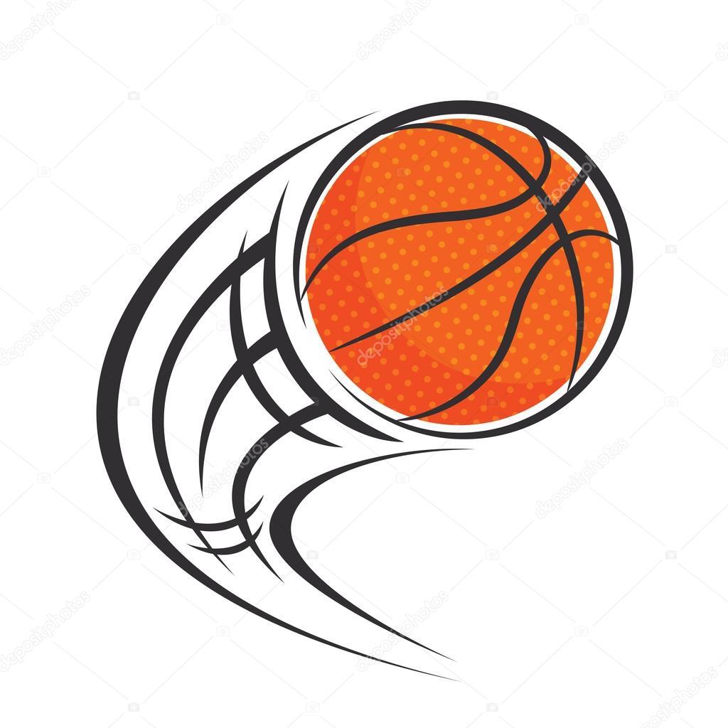 bola de basquete voando vetores de stock mhatzapa 89572258