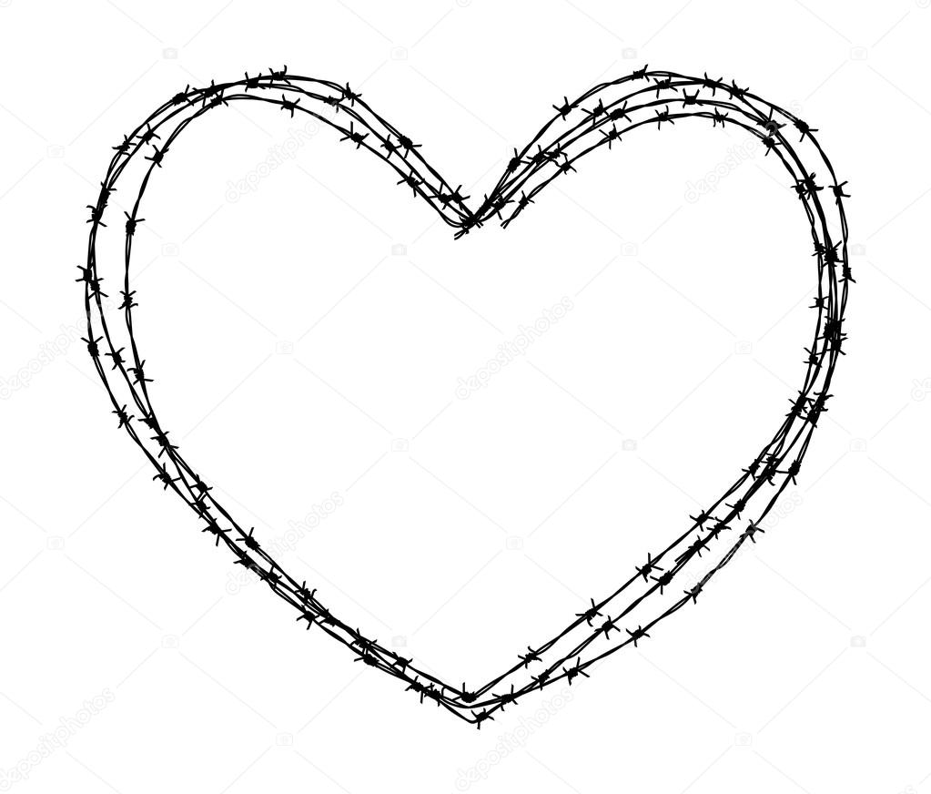 Luxury Barbed Wire Heart Drawings Adornment - Electrical Circuit ...