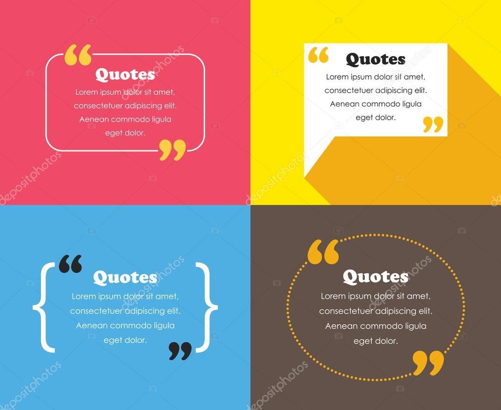 quotes design templates stock vector mhatzapa 89579792