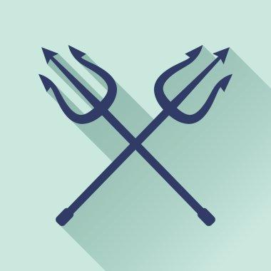 crossed tridents symbol