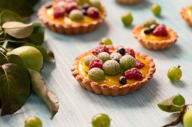 Delicious berries tarts