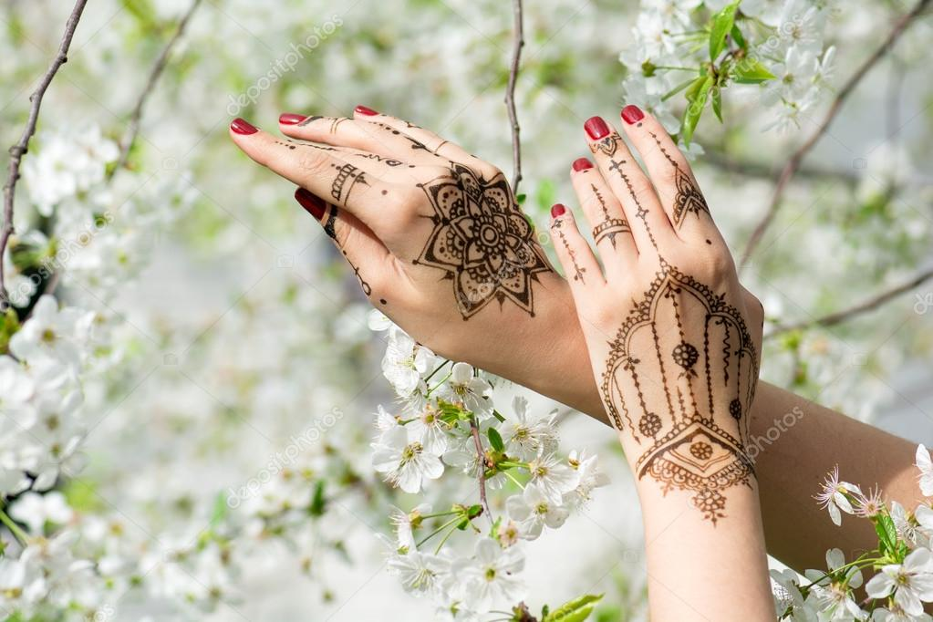 Hands with Mehndi