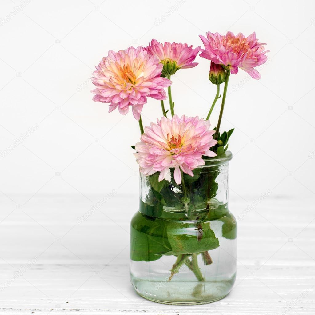 Pink Autumn Flowers Stock Photo Taratata 83438940