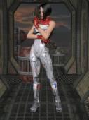 Fotografie futuristische sexy Uniform