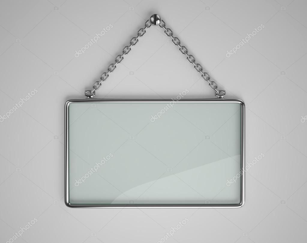 Tablero de cristal con marco de metal — Foto de stock © ptasha ...