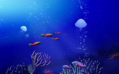 Tropical underwater landscape