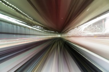 Tunnel car driving motion blur