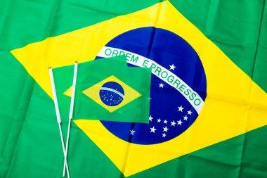 Brazil flag texture background