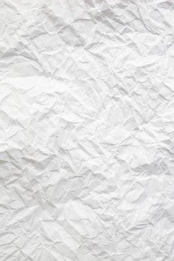 crumpled white paper sheet