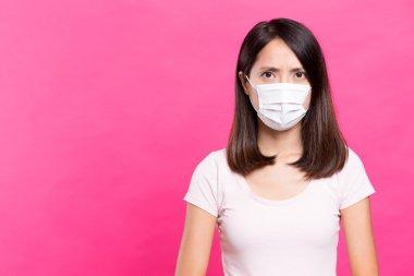 Asian Woman wearing face mask stock vector