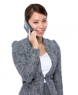 Businesswoman talking on cellphone
