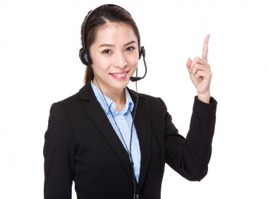 Asian female customer services operator
