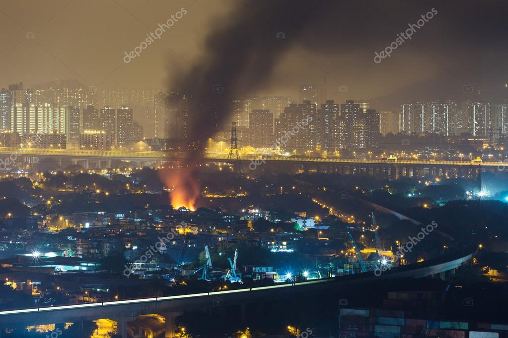 Fire accident in the city