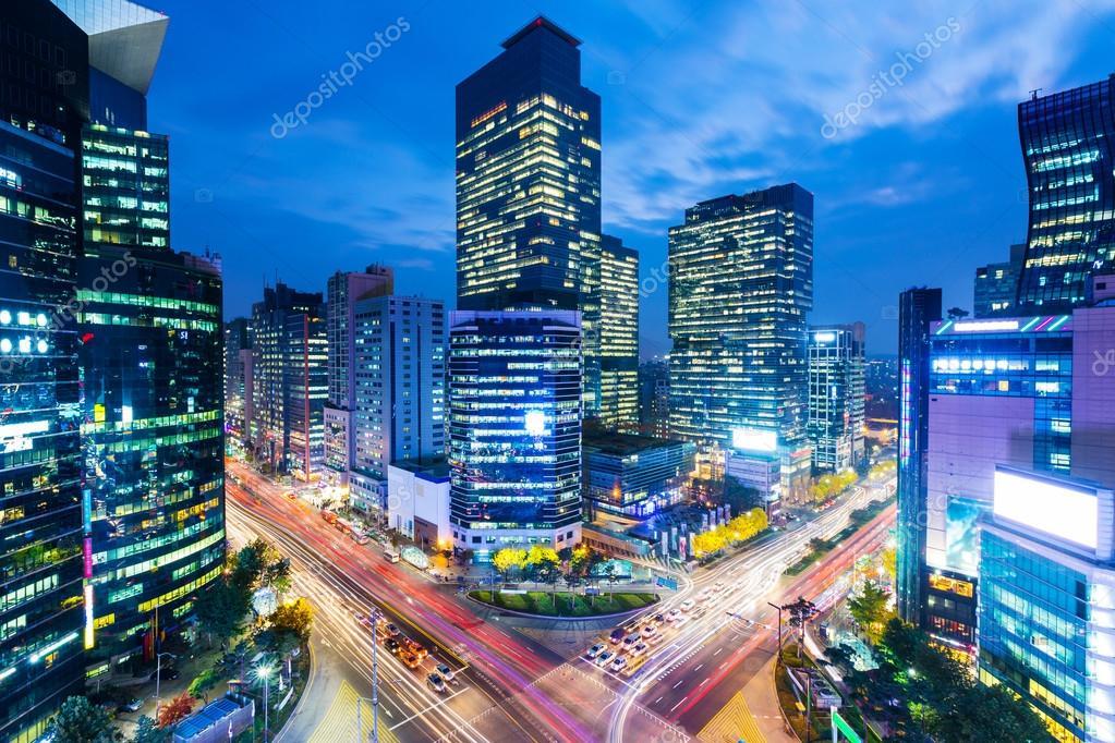 Gangnam district of Seoul — Stock Photo © leungchopan ...