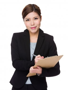 asian young businesswoman in business suit