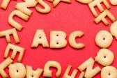 Fotografie letters ABC cookie