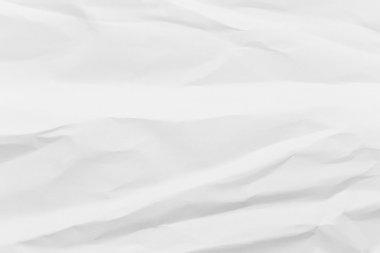 White crumpled paper sheet