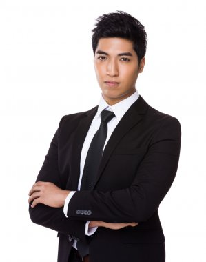 Young asian businessman in business attire