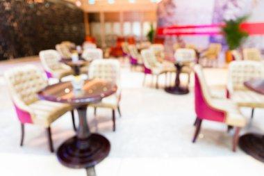 Restaurant blur background with bokeh