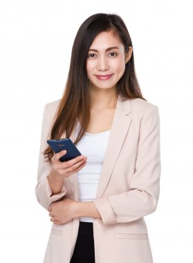 Young asian buisnesswoman in business suit