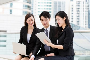business people discuss about the project planning