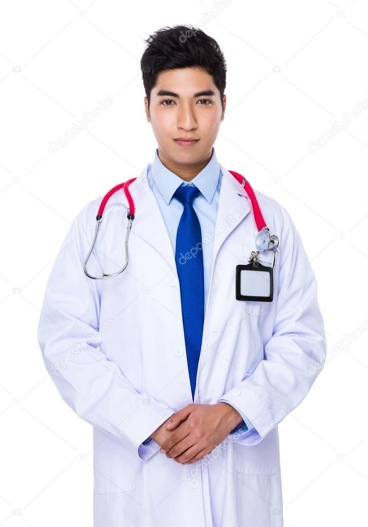 Share Asian male doctor