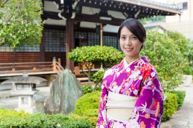 Japanese woman in traditional costume