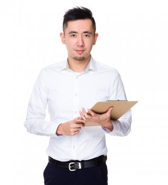 Young asian businessman in white shirt